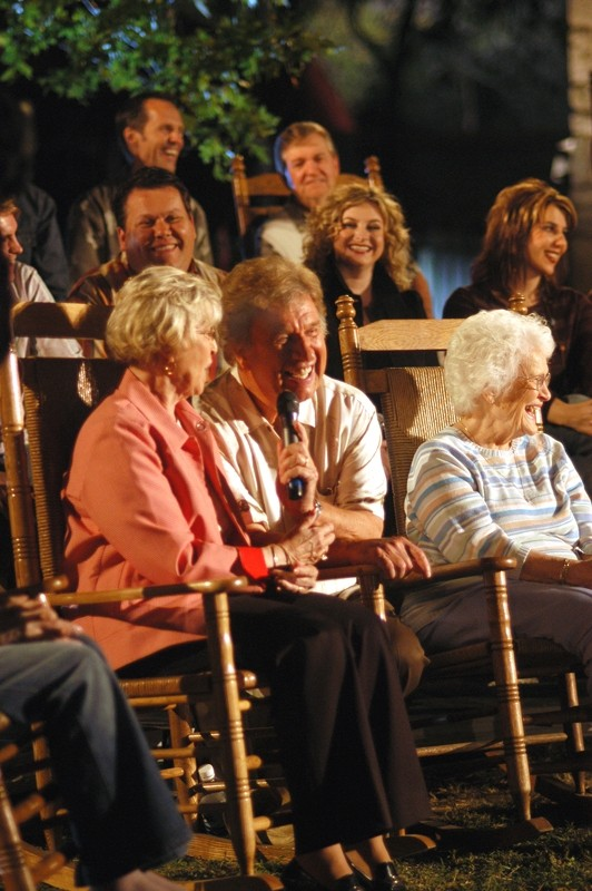 Bill Gaither and audience