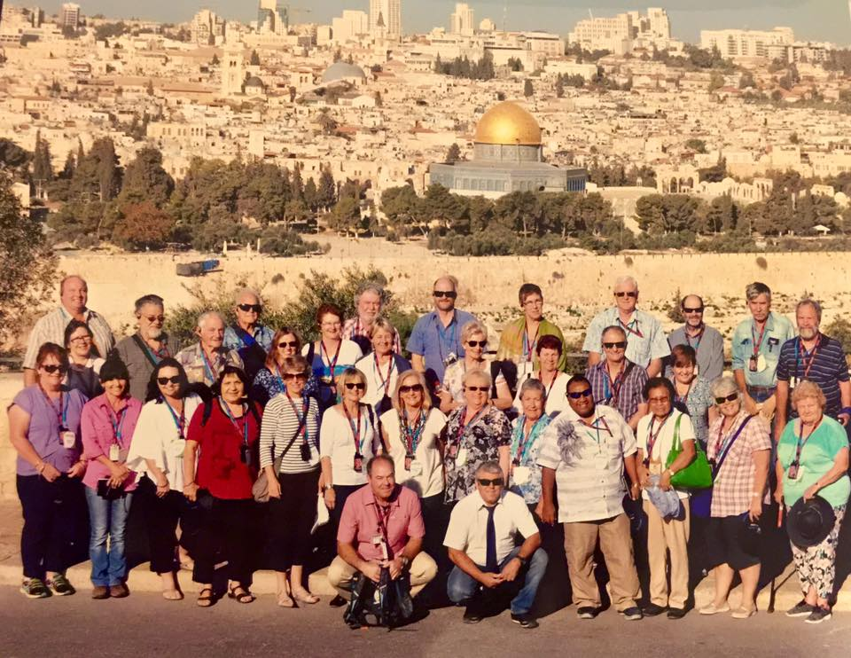Vision tour group in Jerusalem