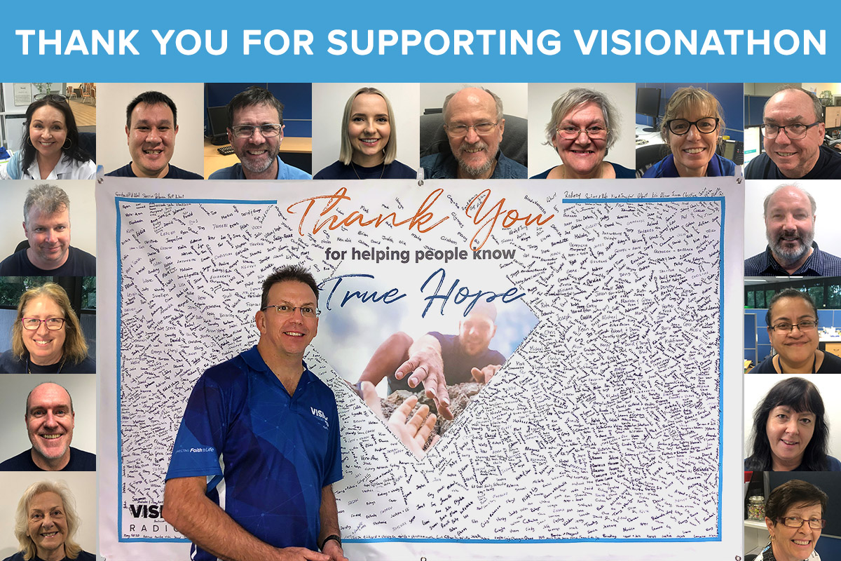 Thank You For Supporting VIsionathon