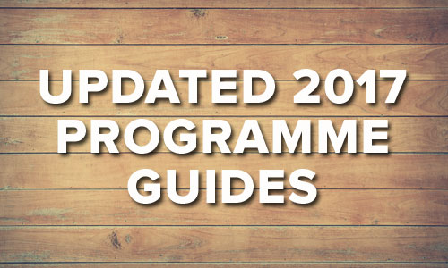 Updated Programme guide