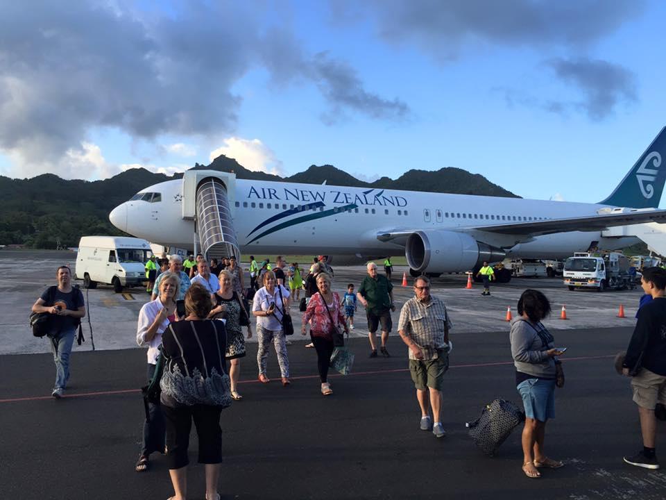 AirNZ flight to Rarotonga