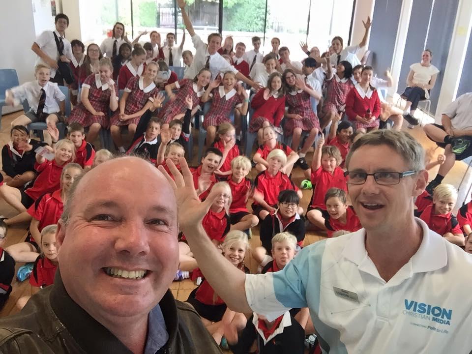 School assembly in Launceston