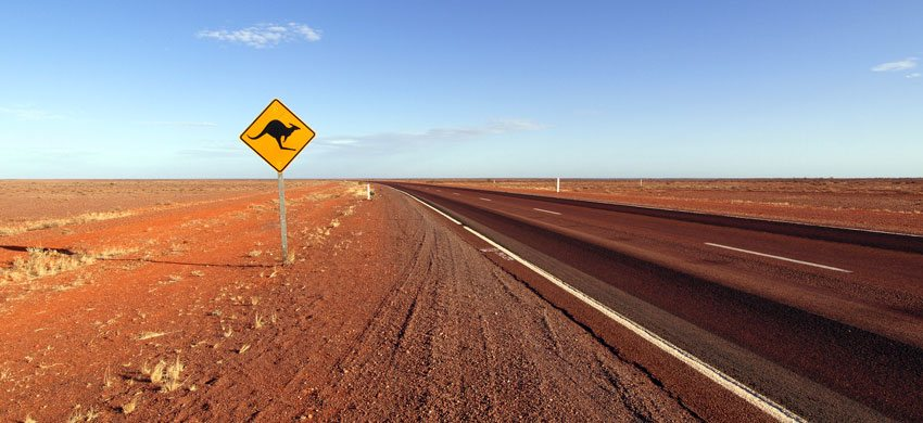 Vision radio Host Sites needed - Australian Road with Kangaroo Sign