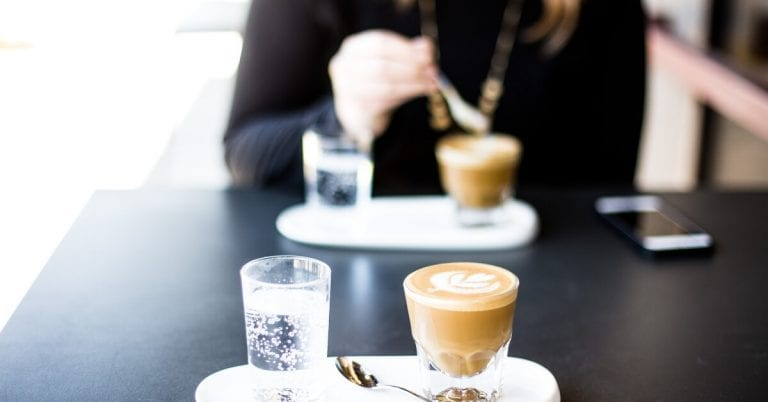coffees in a cafe