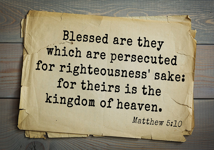 Matthew chapter 5 verse 10