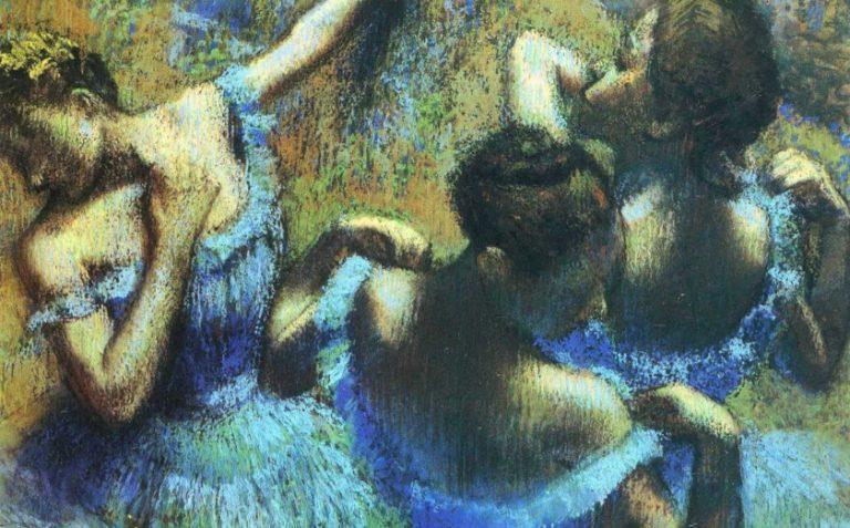 Degas painting Blue Dancers