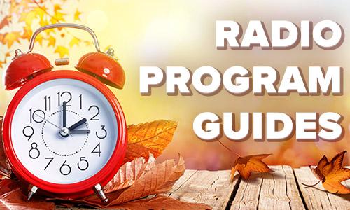Autumn radio program guides