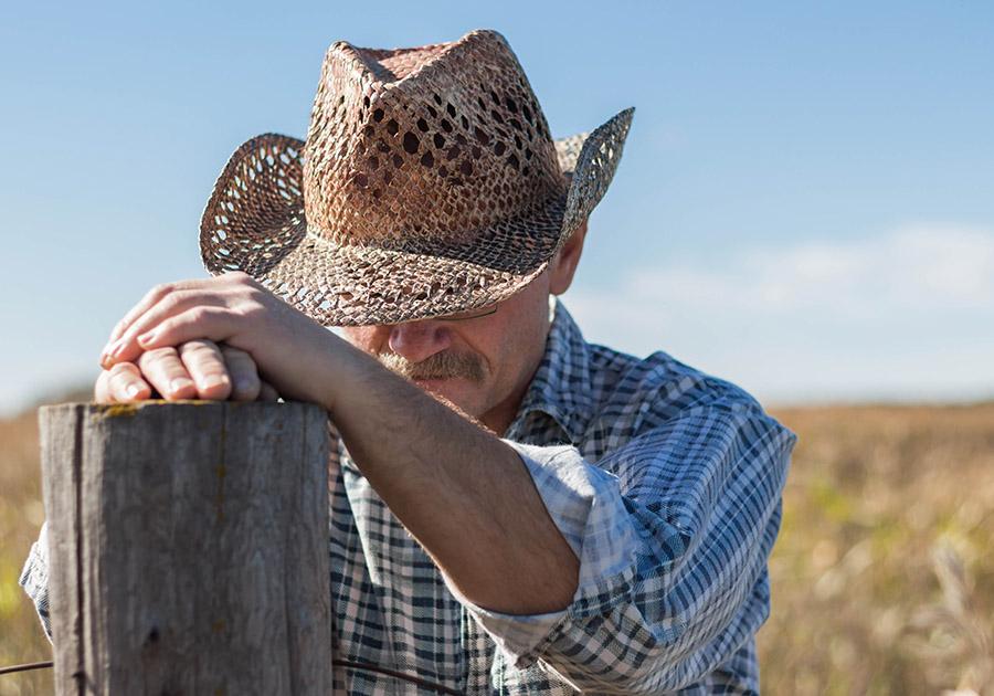 Farmer praying