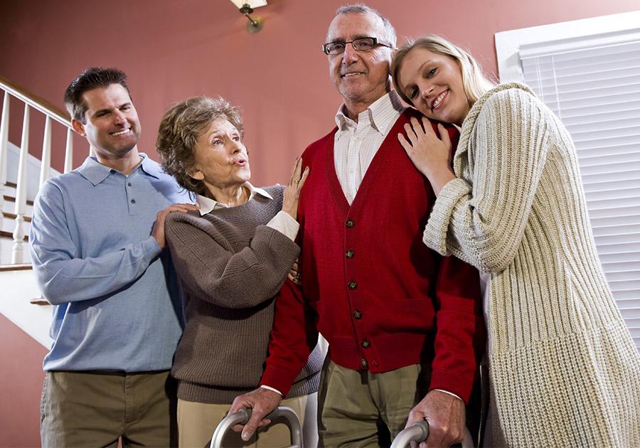 Adult children with elderly parents