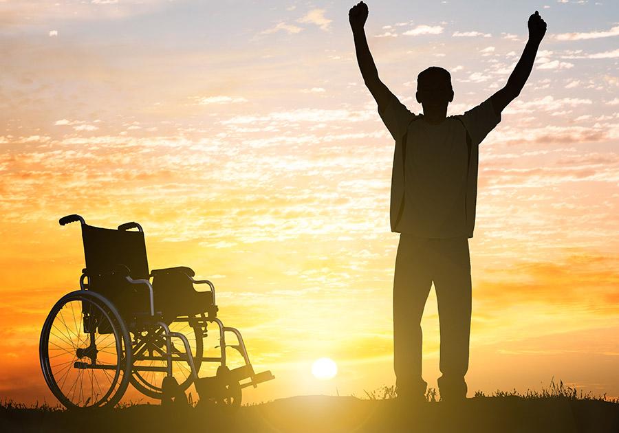 Man celebrating miracle