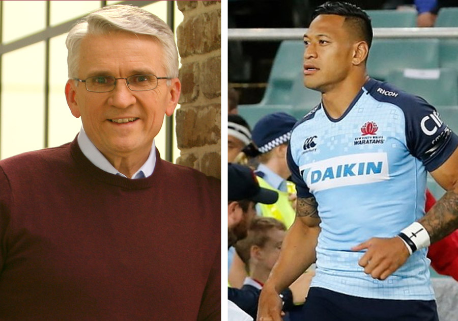 Berni Dyment and Israel Folau