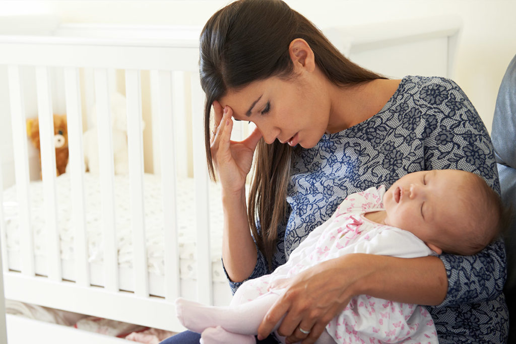 Mother with post natal depression