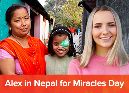 Alex in Nepal for Miracles Day