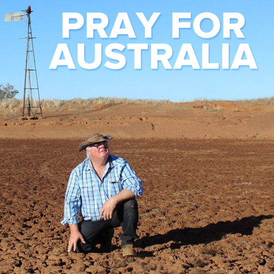 Pray for rain in Australia