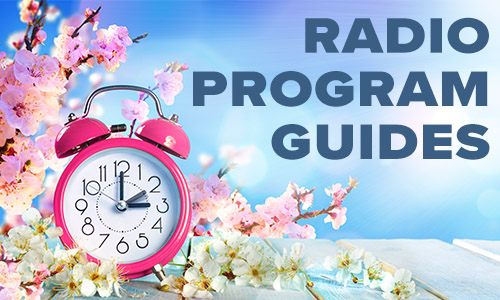 Spring Radio Program Guides