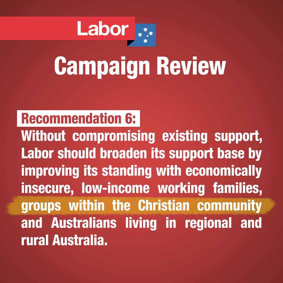 ACL's graphic of Labor Campaign Review