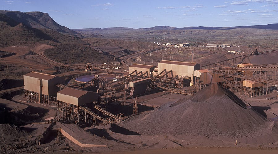 Mt Tom Price Iron Ore mine.