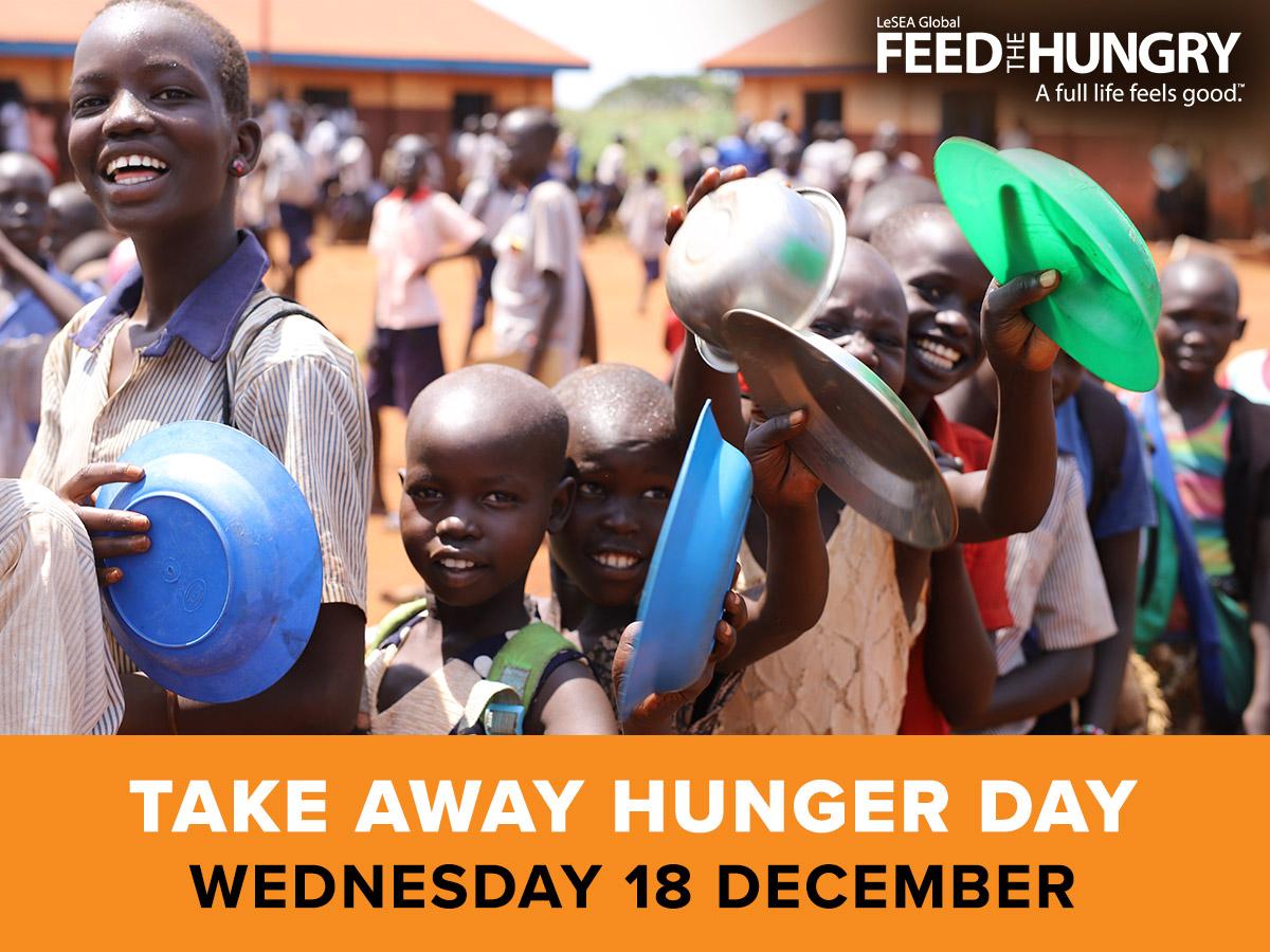 Take Away Hunger Day - Wednesday 18 December