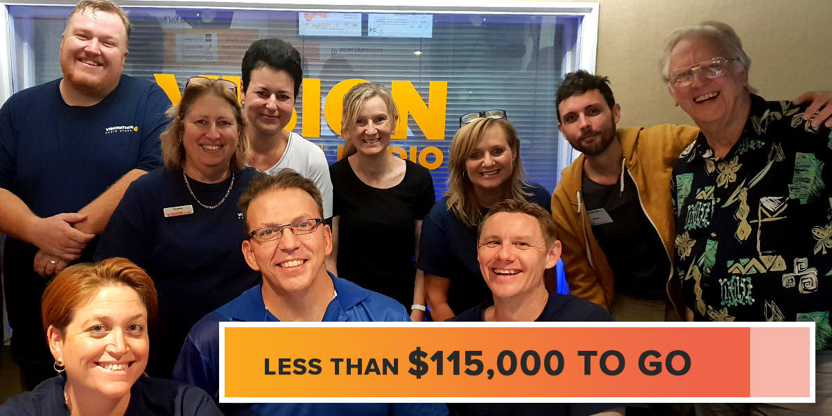 Less than $115,000 to go for Visionathon