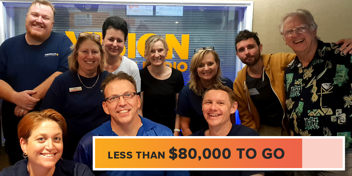 Less than $80,000 to go for Visionathon