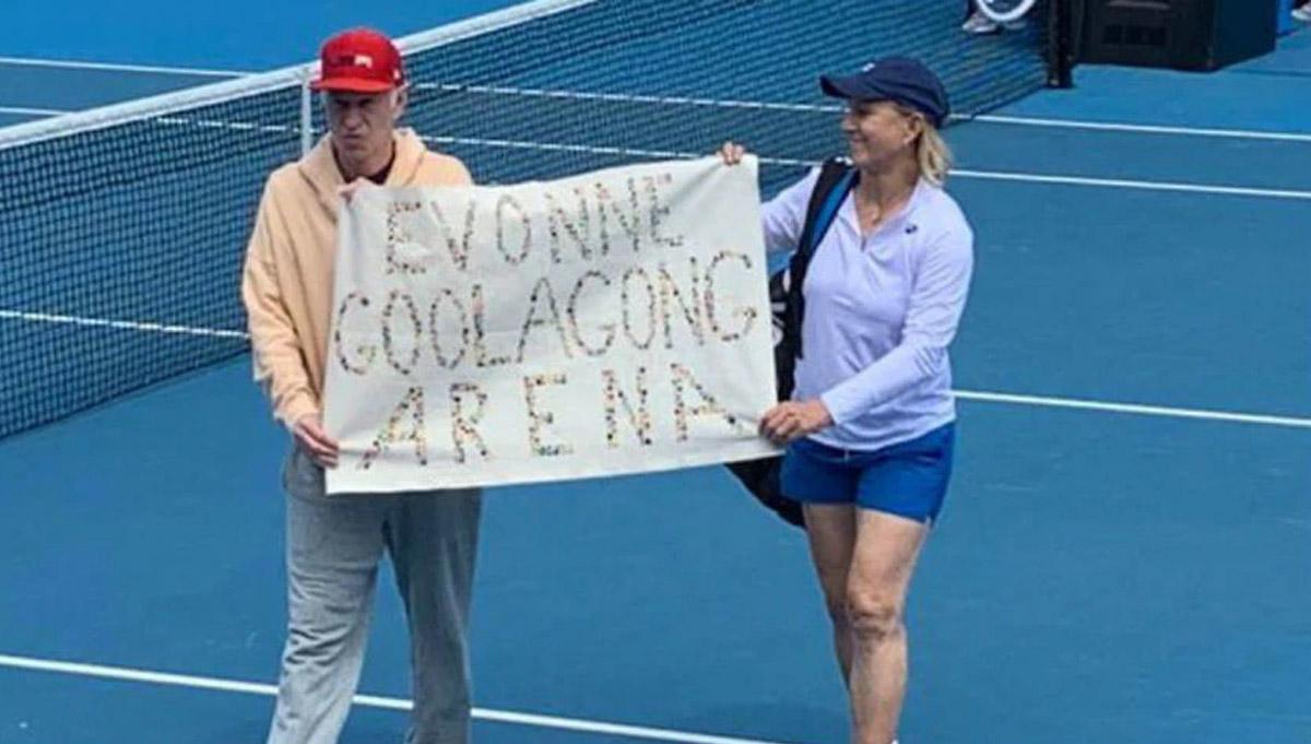 Australian Open protest