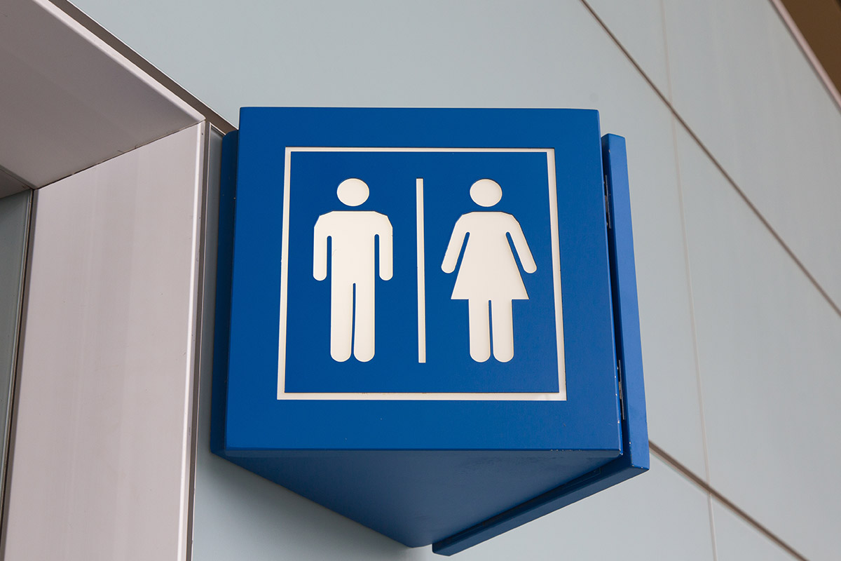 male female toilet sign