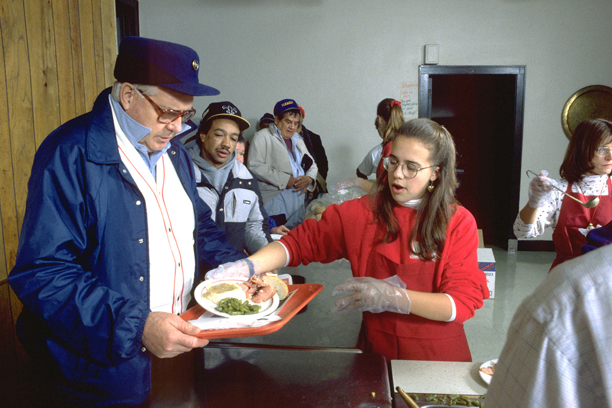 Church feeding homeless