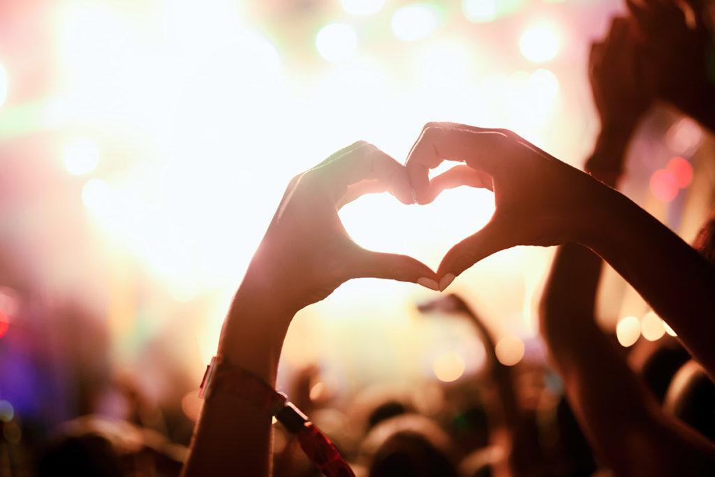 Hands making heart