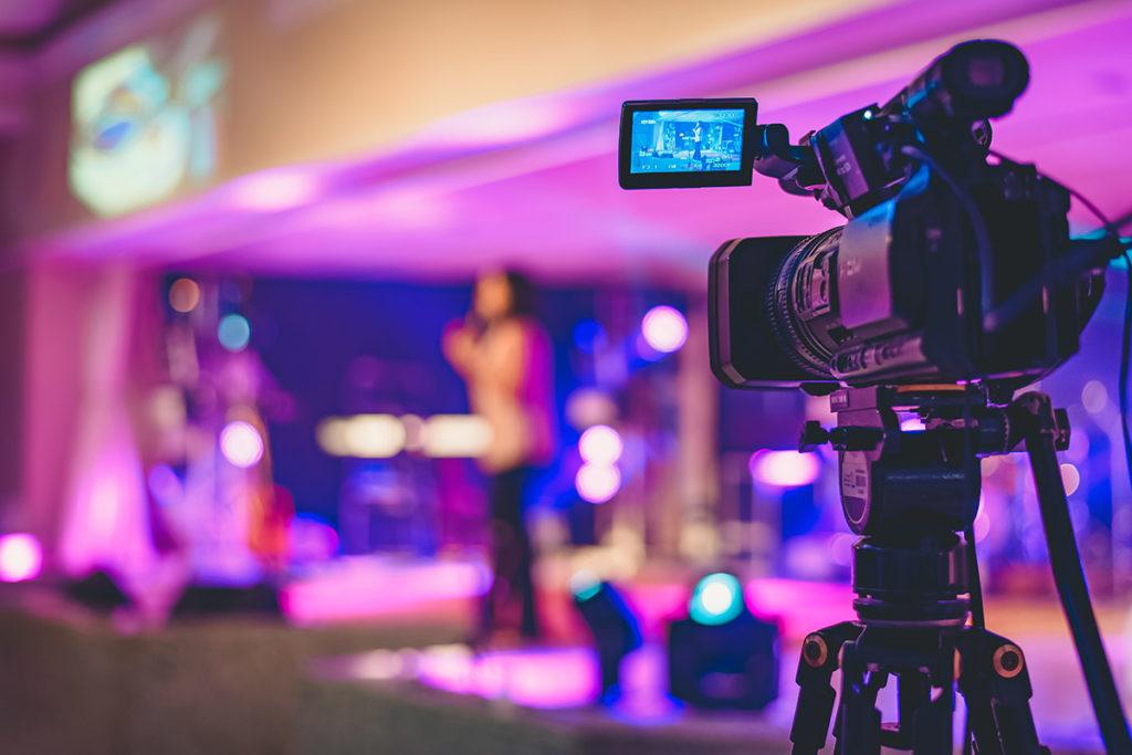 Video camera church service