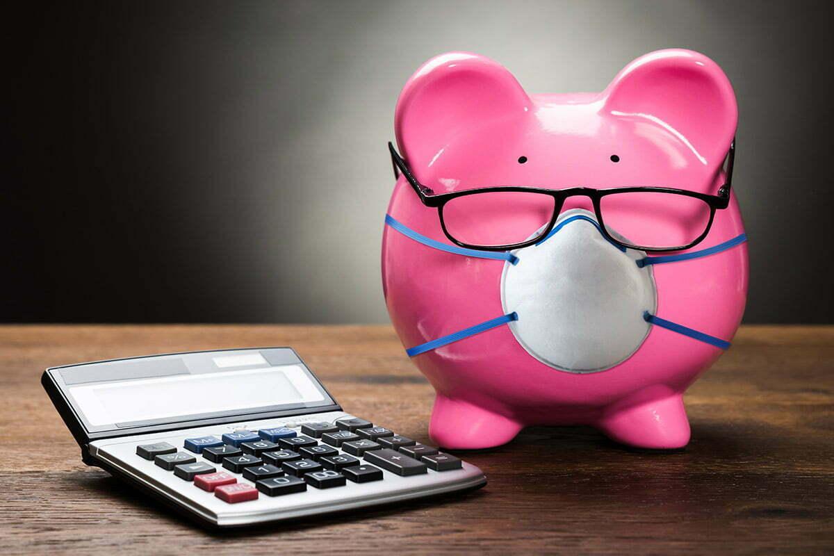 Coronavirus piggy bank