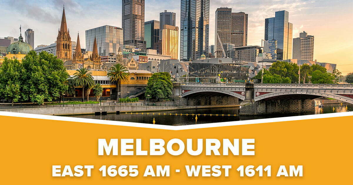 Melbourne East & West VIC Christian Radio 1665 & 1611 AM