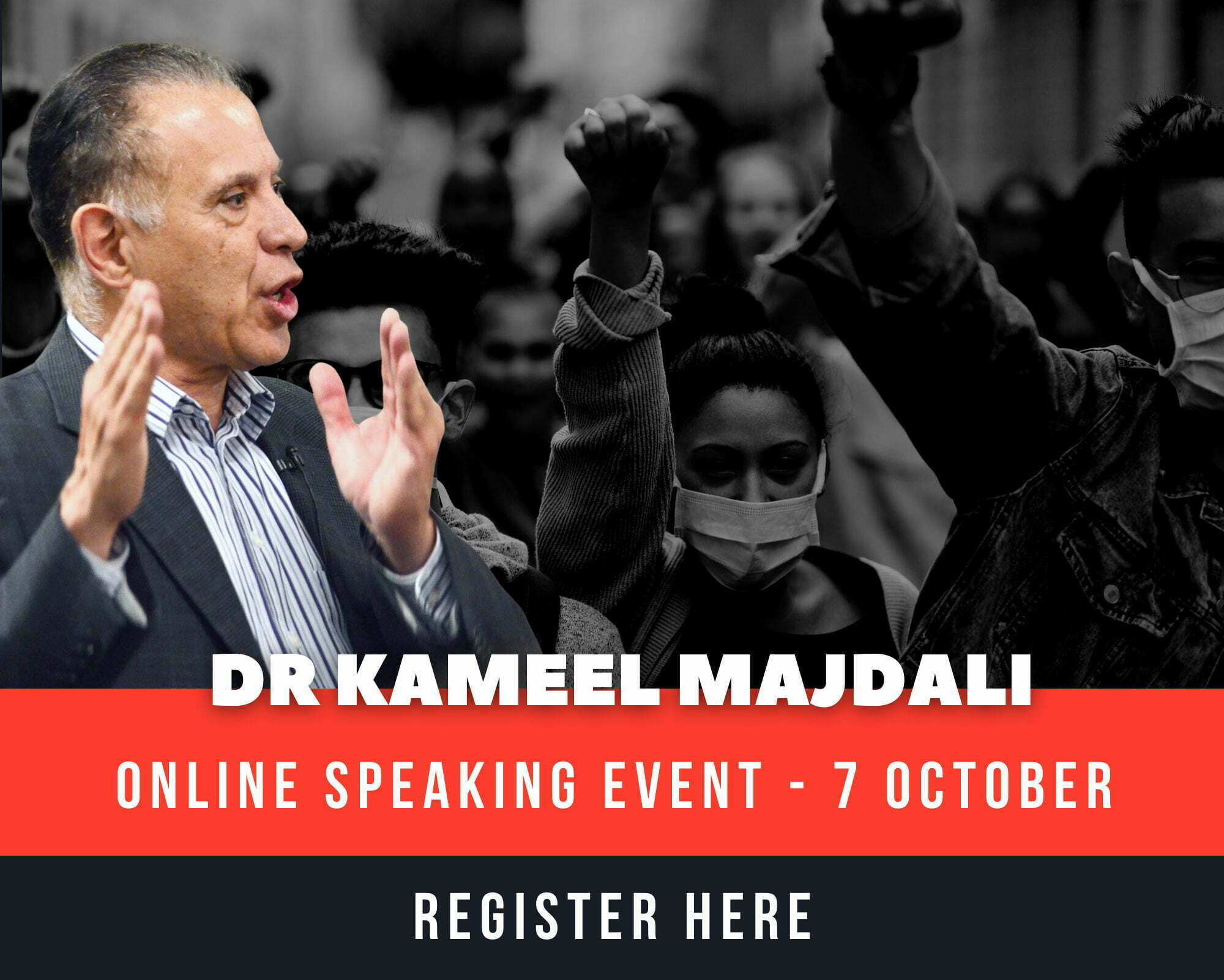 Dr Kameel Majdali Online Speaking Event