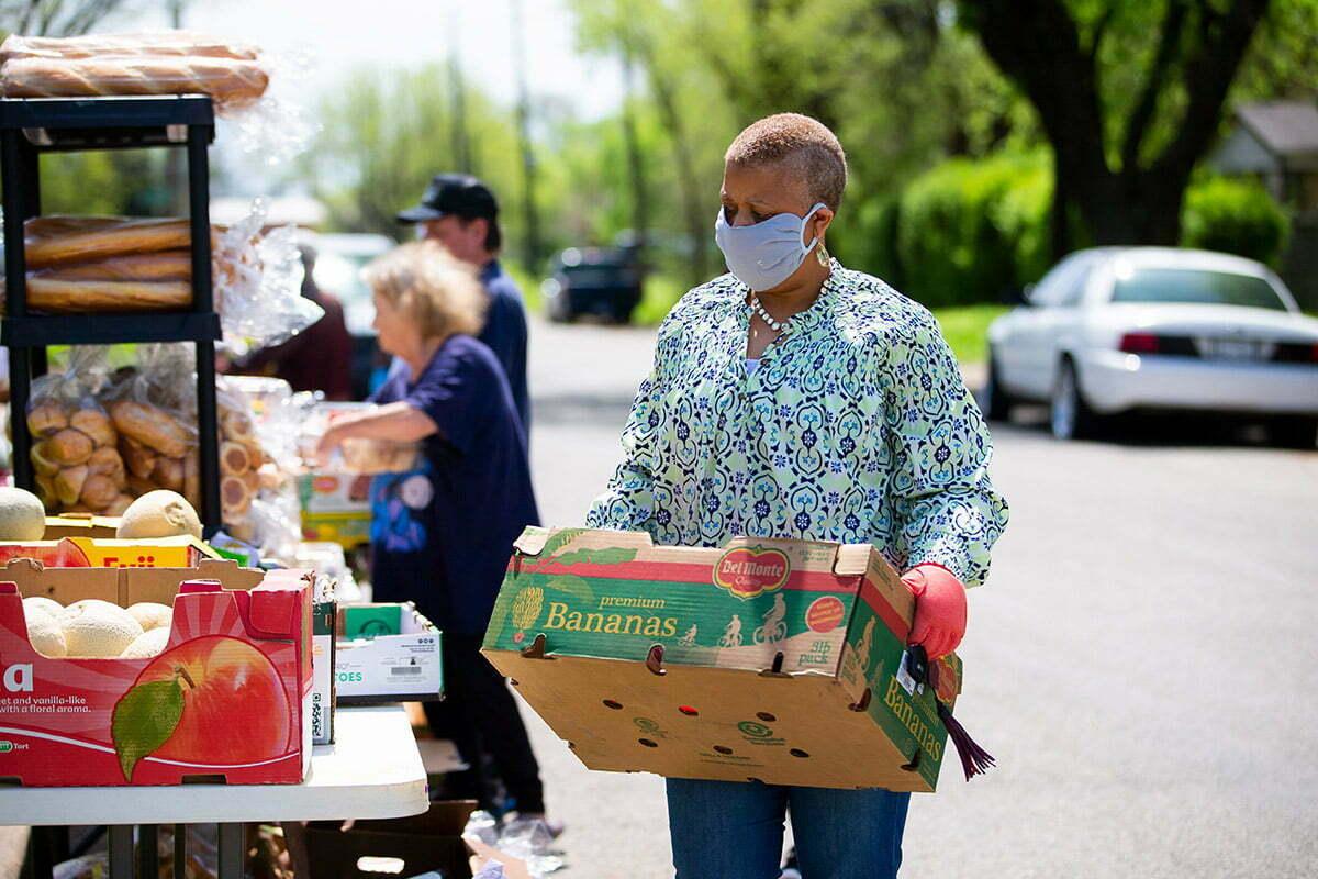 Church helping community during covid