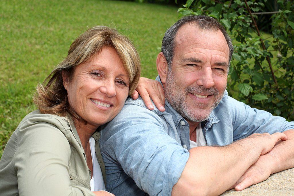 Mature aged couple