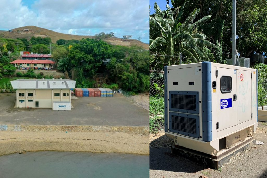 PNG campus with generator