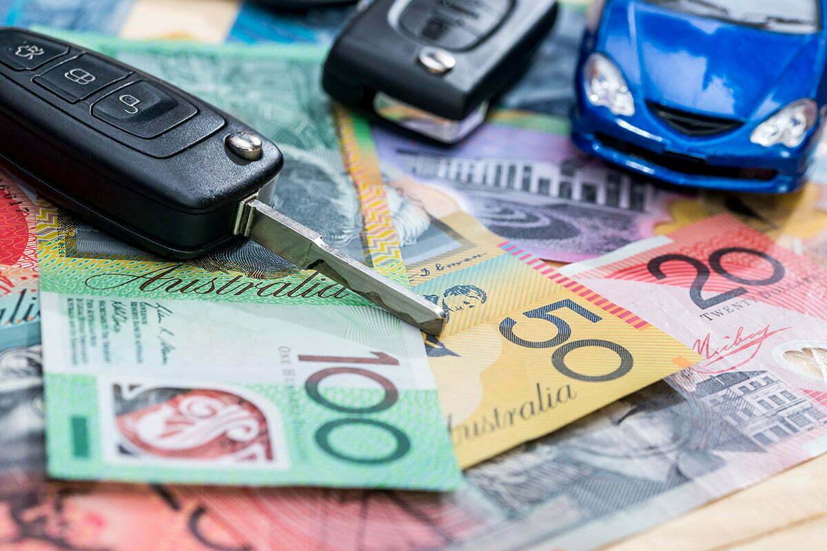 Australia money and model car
