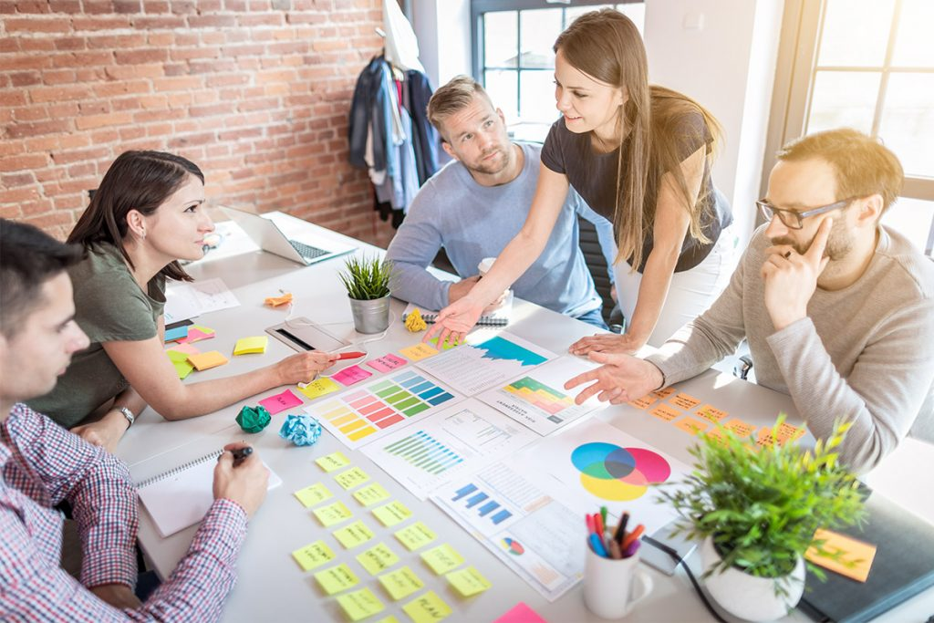 team brainstorming