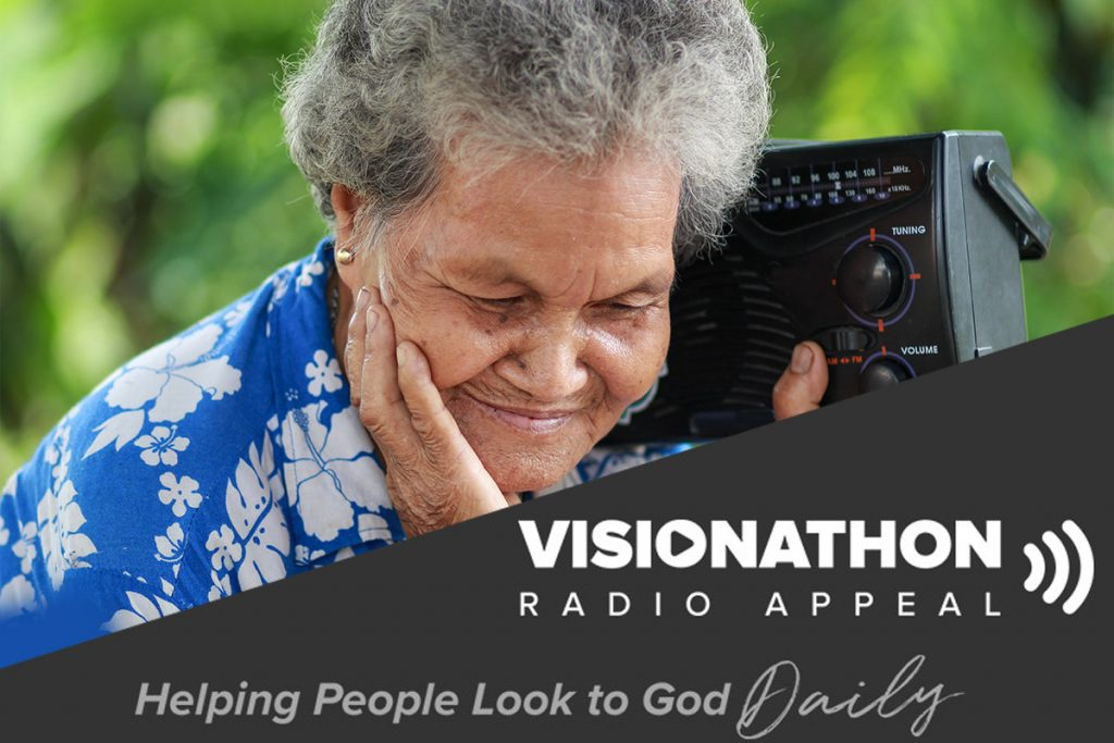 woman listening to radio