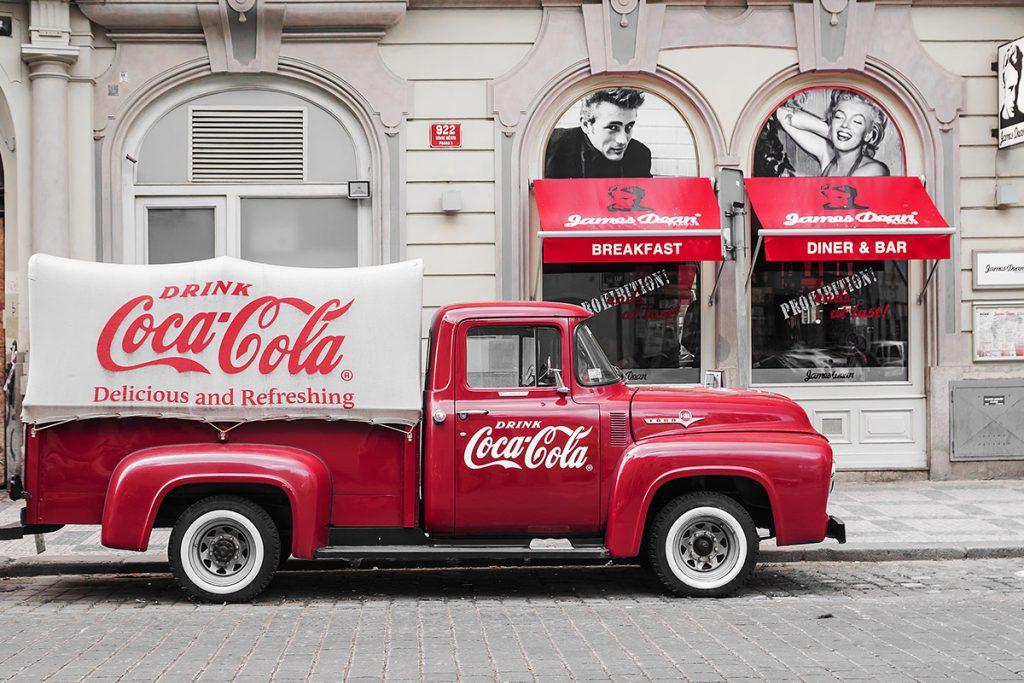 Coca Cola historic car